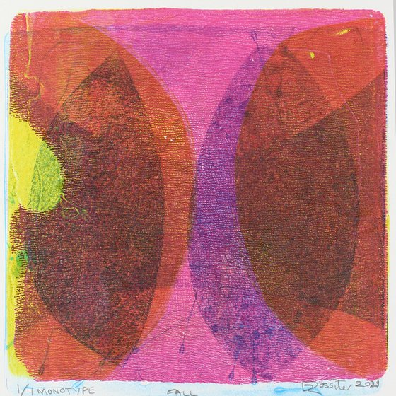 Fall - Unmounted Signed Monotype