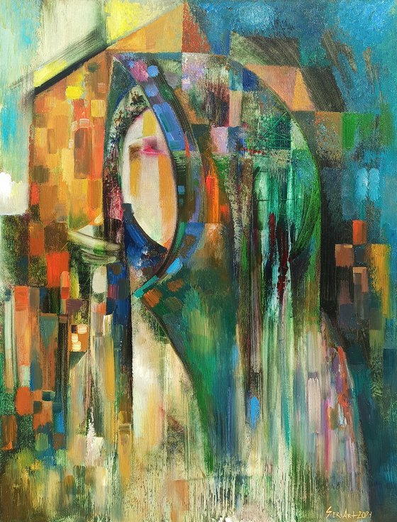 Silence bells (50x70cm oil/canvas, ready to hang)