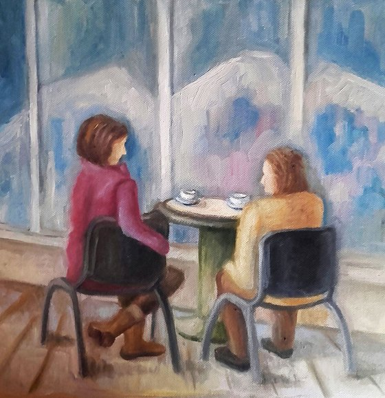 Painting | Oil | Coffee chatters