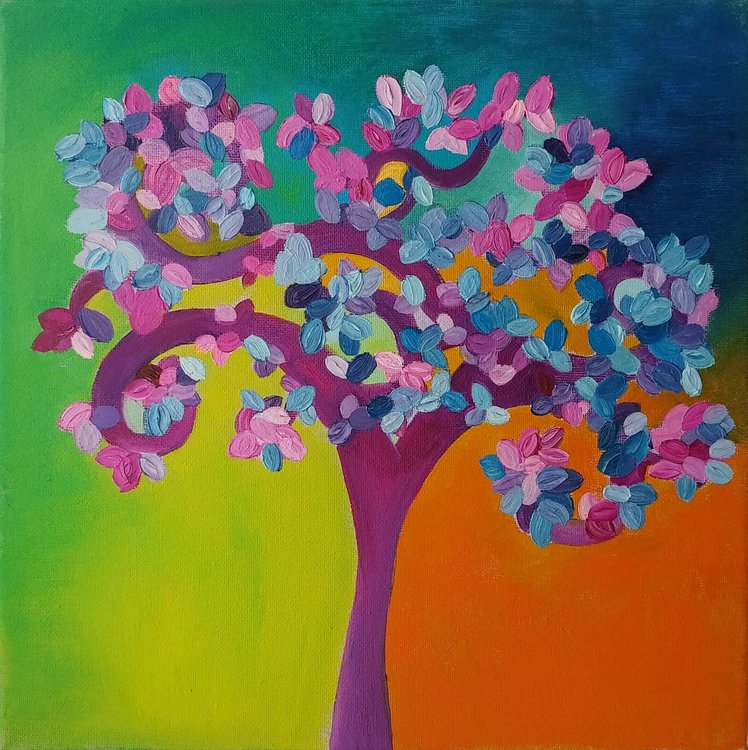 Tree Of Life Oil Painting By Alessandra Franchi Artfinder