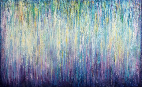 """Spring Fantasy, 130x80 cm - 51""""x31"""", Large original modern abstract painting"""