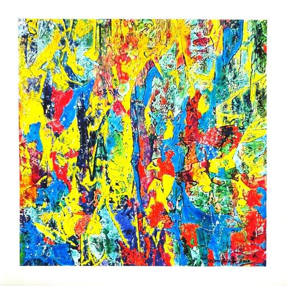 Celebration Of Colours - Series A No. 3 original oil painting