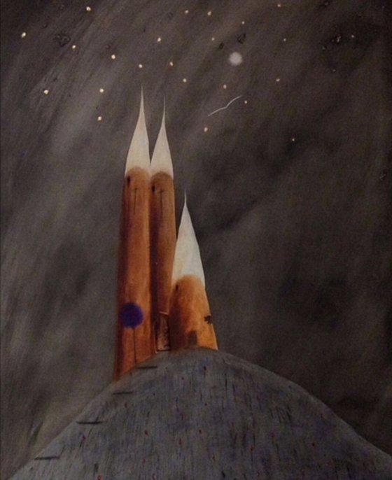 """The Three Towers Of Aegean"" 77x102x2cm"