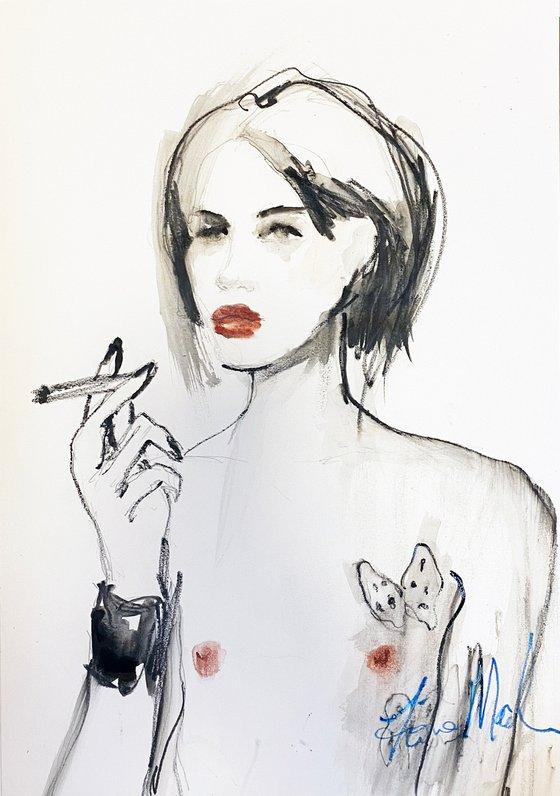 Renat smoking