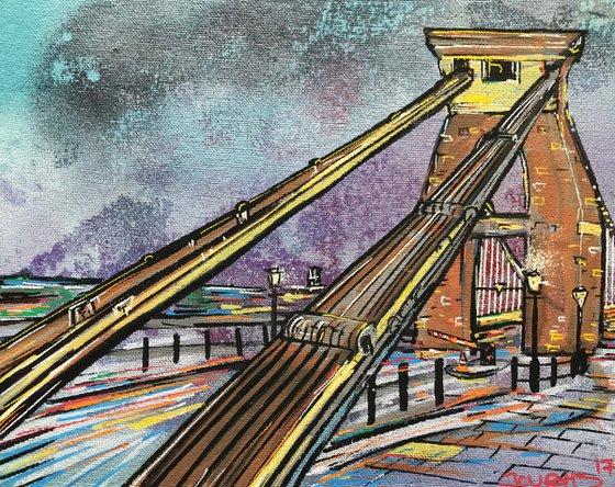 Clifton Suspension Bridge - Mini painting