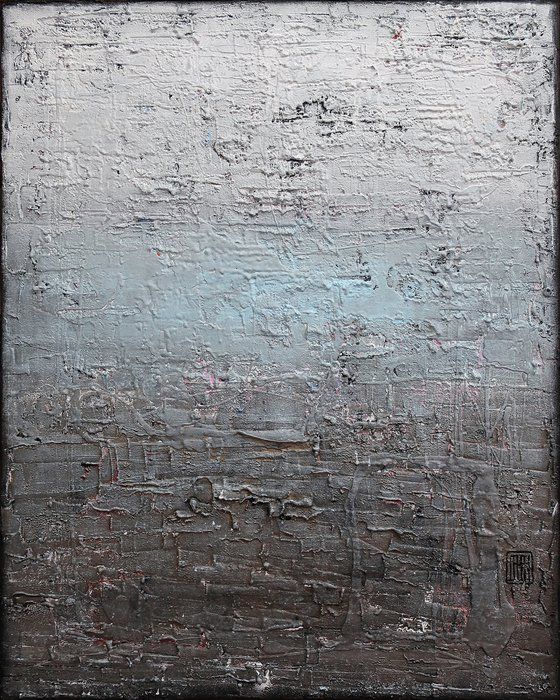 A168 (Contemporary abstract Spiritual Architecture Landscape Acrylic on canvas Large wall art Painting Series)