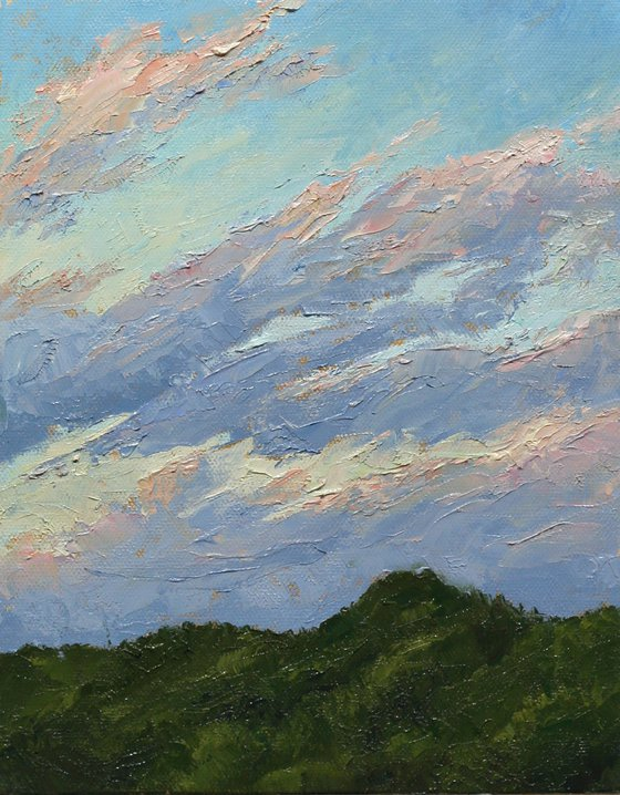 Pink Clouds over Green Hills