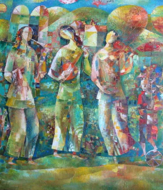 Spring melody (60x70cm oil/canvas)