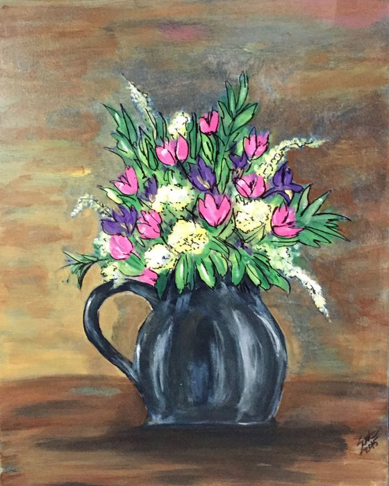 Bouquet of pinks and purples