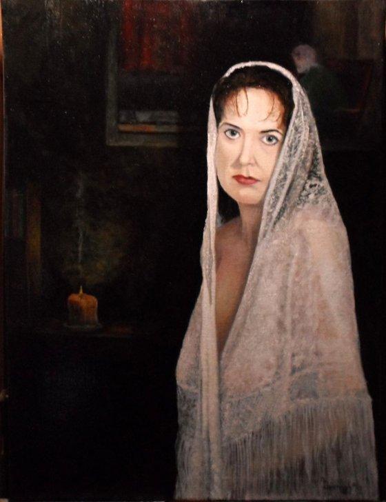 Lady in Lace Mantilla
