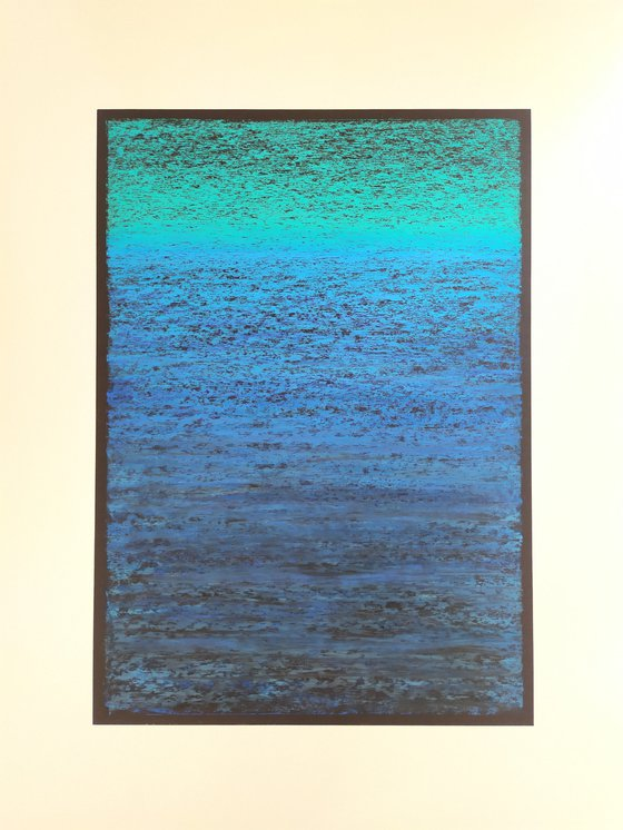 Abstract seascape Blue and green