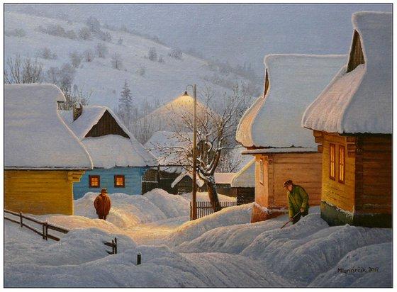 Winterly nightfall