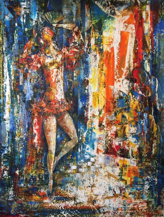 Carmen (50x60cm, oil painting, paper)