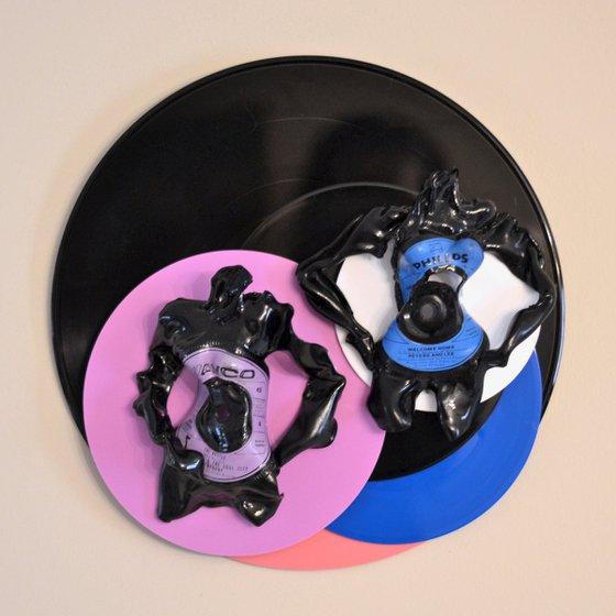 "Vinyl Music Record Sculpture - ""Hustle on Home"""