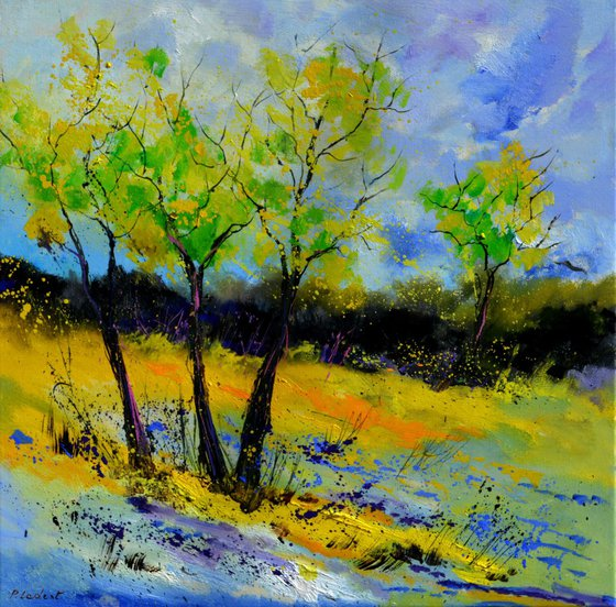 Three trees in spring
