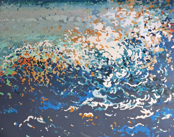 """Down by the Sea, 60 x 48 x 1.5"""""""