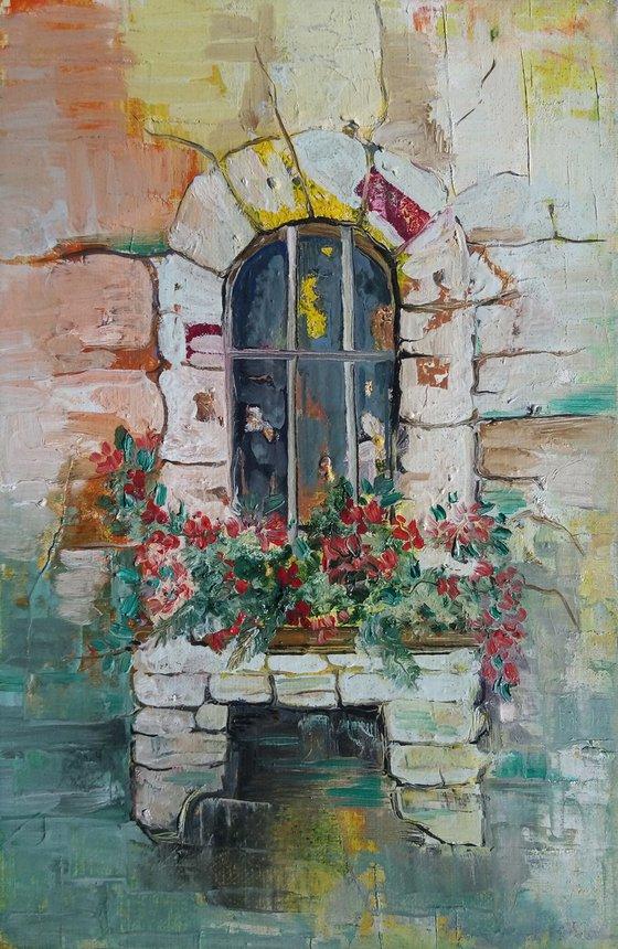 Door(20x30cm, oil painting, ready to hang)