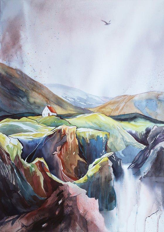 Faroe islands - 50*70 cm - Mountains seascape landscape