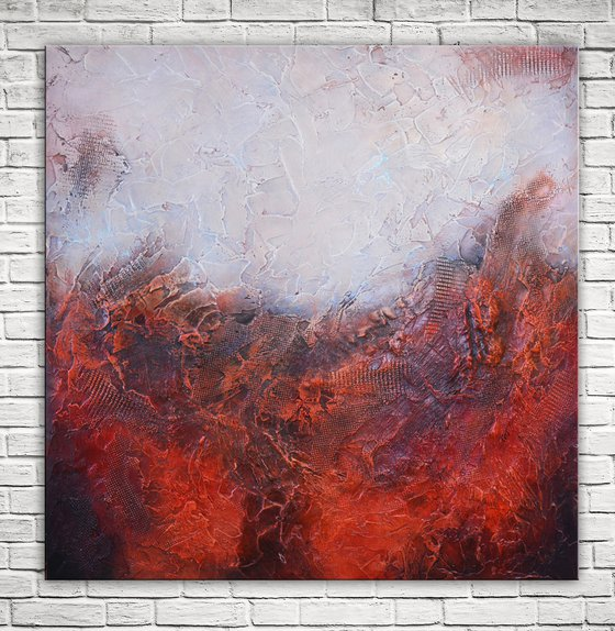 Red Planet - Original Abstract Red Painting