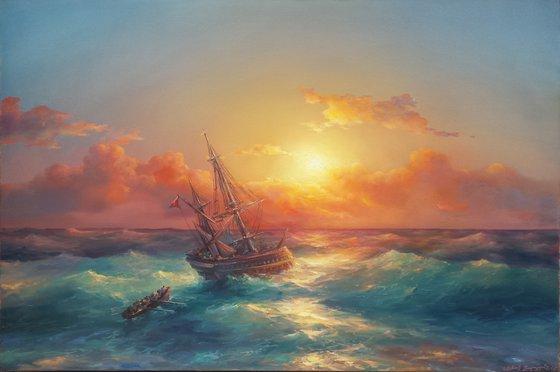 Seascape(120x80cm, oil painting)