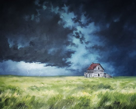 """Thunderstorm - Landscape - """"Echoes on the Prairie"""""""