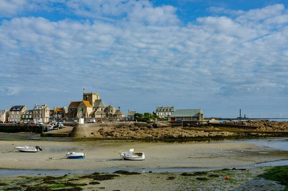 A fishing harbour in Normandy
