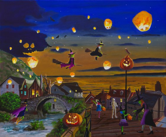 Halloween Town painting