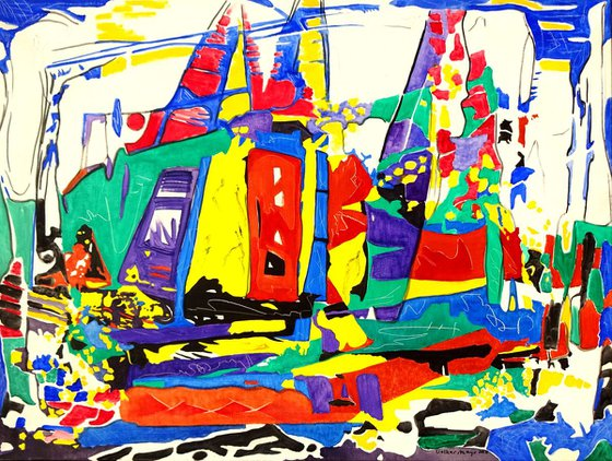 Sydney Hobart Sailing Race - A Fantasy Painting