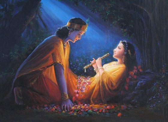 That Purest Night of Diwali - When Radha Ji Herself Heard Krishna' Basuri