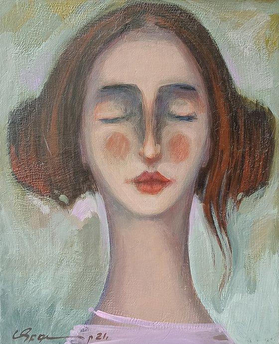 Girl portrait-2 (24x30cm ,oil/canvas)