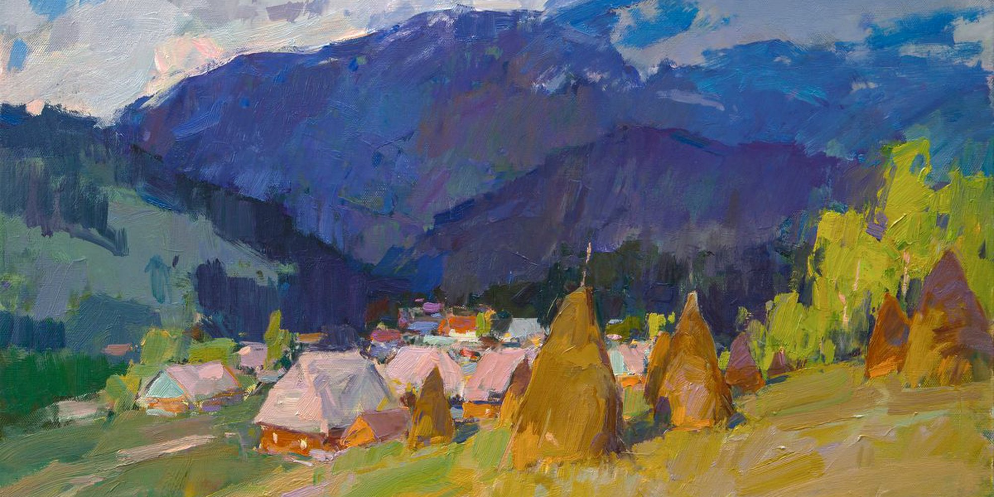 "Art of the Day: ""Carpathians, Summer morning, 2015"" by Aleksandr  Kryushyn"