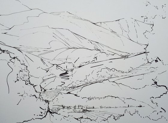 DIARY DRAWING  No. 2   Buttermere 04 09 18