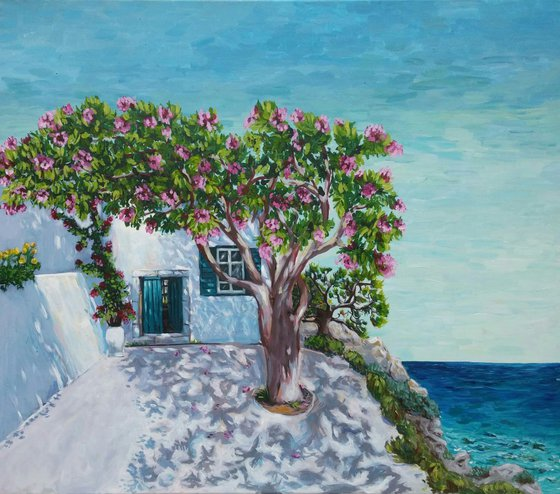"""Corner of paradise"", 80x70cm, (31.49""x27.56''), acrylic on canvas"