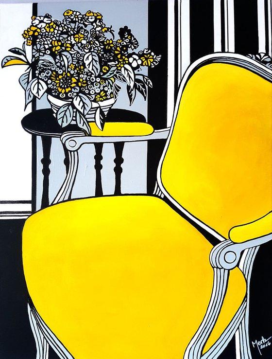 La chaise jaune