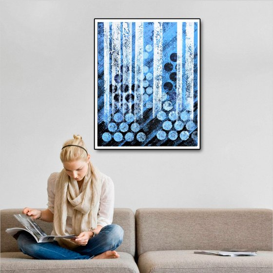 Blue and White 61x76 cm