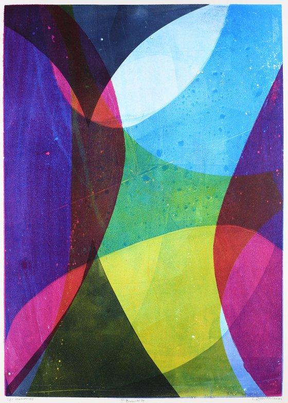 Falling - Unmounted Signed Monotype