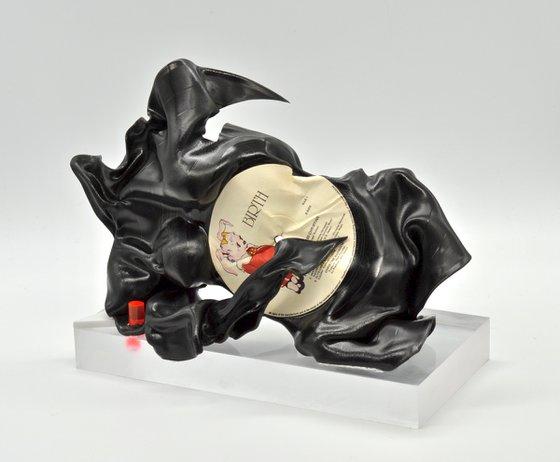 "Vinyl Music Record Sculpture - ""Lie Down, Mama"""