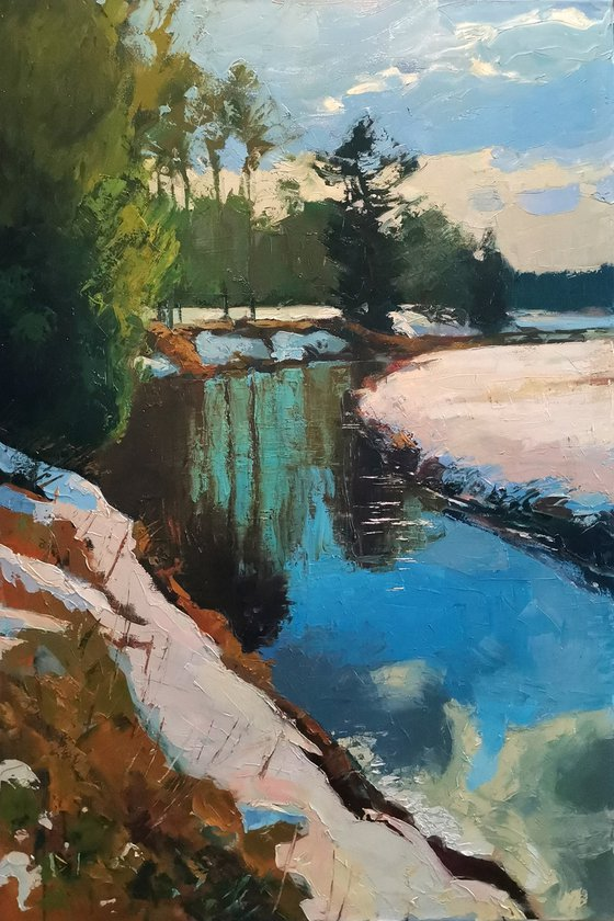 Spring on the Nikulchinka river