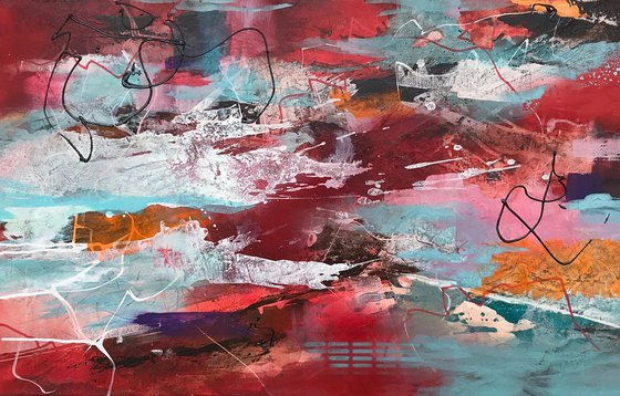 Abstract red landscape I