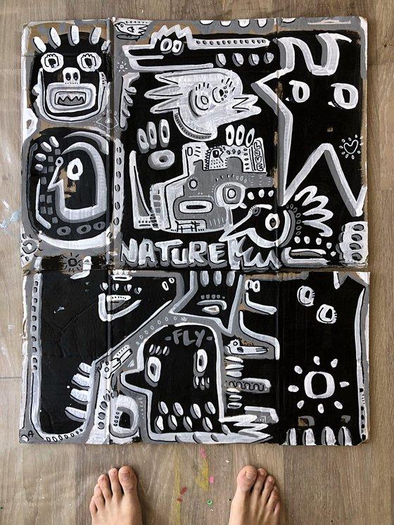 NATURE AT NIGHT  63x77cm