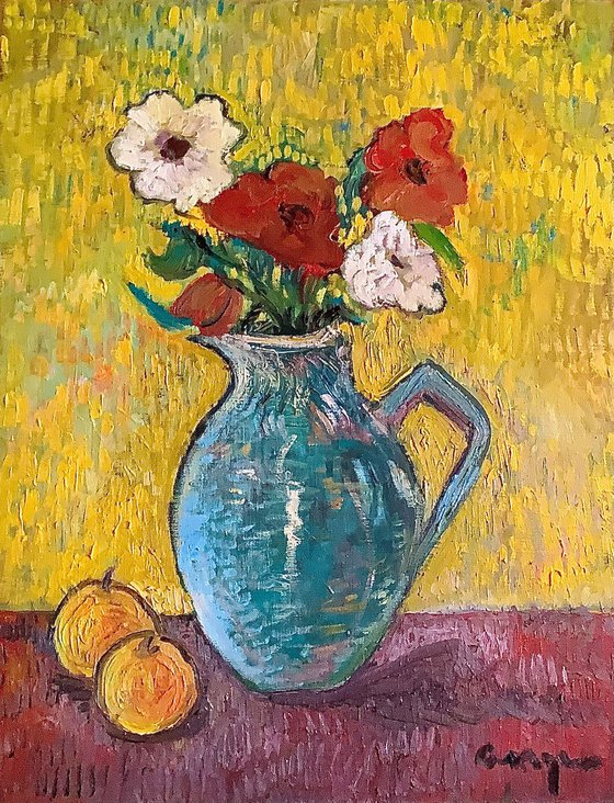 Pitcher with flowers