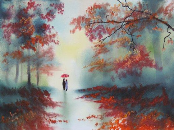 Autumn Rainy day