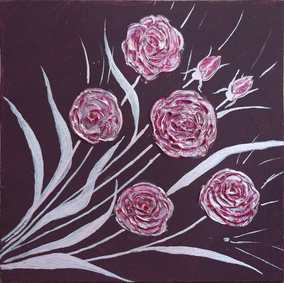 """Modern Roses"" 25 x 25 cm"