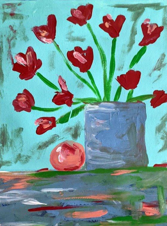 Poppies & Orange V