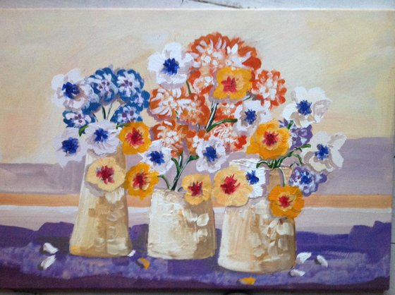 3. Pots and flowers