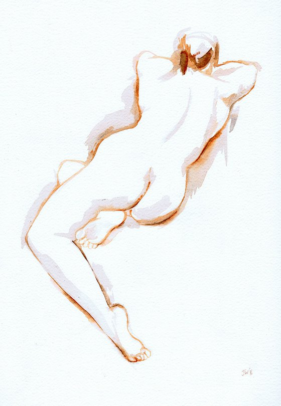 Nude reclining, back view 2