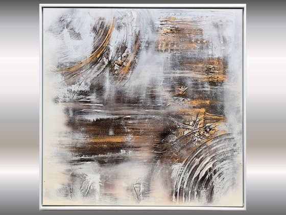 Fossil II - Abstract Art - Acrylic Painting - Canvas Art - Framed Painting - Abstract Painting - Industrial Art