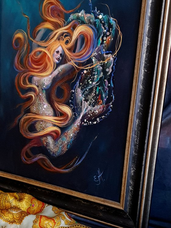 La Mer, oils on handmade Italian linen board