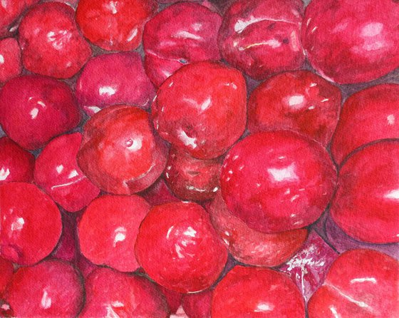 A basketful of Plums