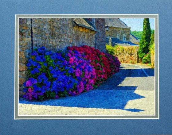 Hydrangeas on French Backstreet Impressionism